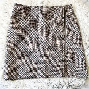 White House Black Market Plaid Mini Skirt EUC